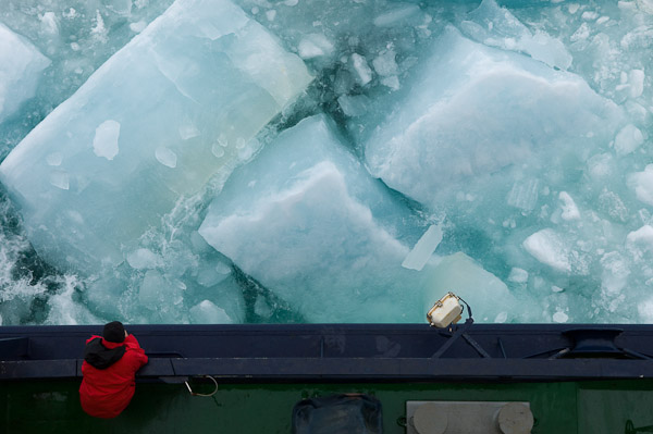 My favorite thing about the Arctic Ocean is undoubtedly the ice. It comes in a myriad of colors, shapes, and sizes. It can stop an icebreaker in its tracks and make you feel insignificant.