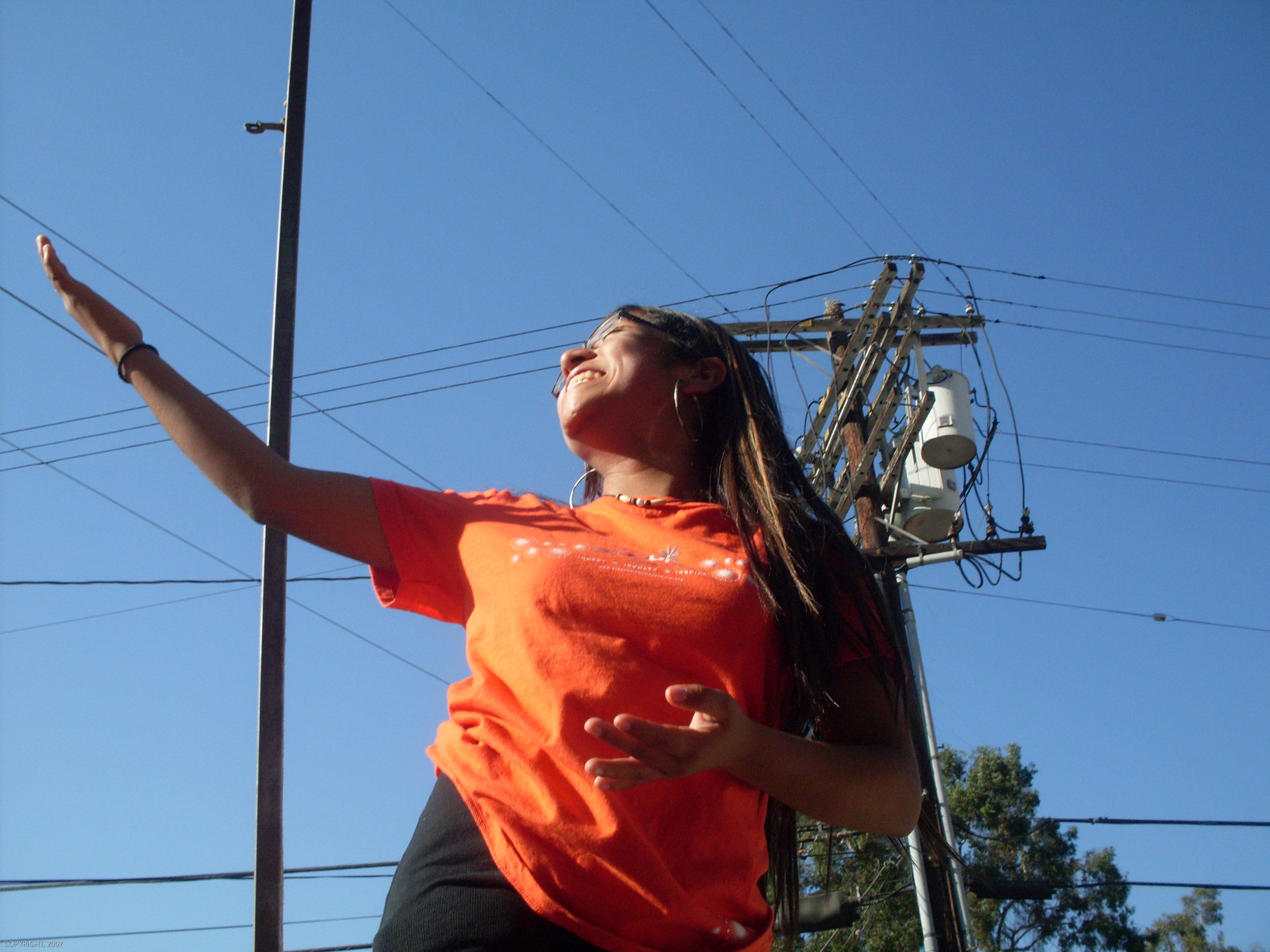 LA Leadership student Narvy Vasquez, as photographed by her fellow student Jacky Rodriguez