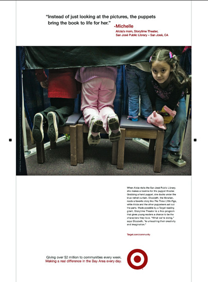 An ad campaign for Target shot by Deanne Fitzmaurice, a photographer for the San Francisco Chronicle until last year.