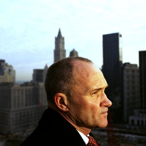Ray Kelly, New York City Police Commissioner, atop a building overlooking Ground Zero. Marc Asnin/Redux