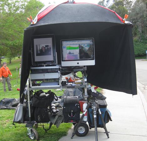 Mark Gordon's G10capture digital tech cart