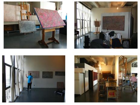 On location: the painter's studio