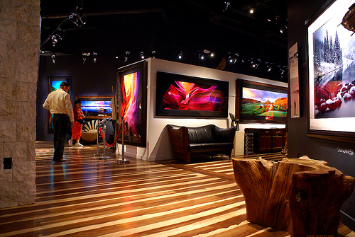 "One of Peter Lik's ""destination"" galleries showcasing his landscape photography."