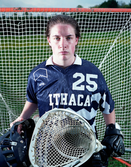 Photo of Kiera, Ithaca University Varsity Lacrosse player.