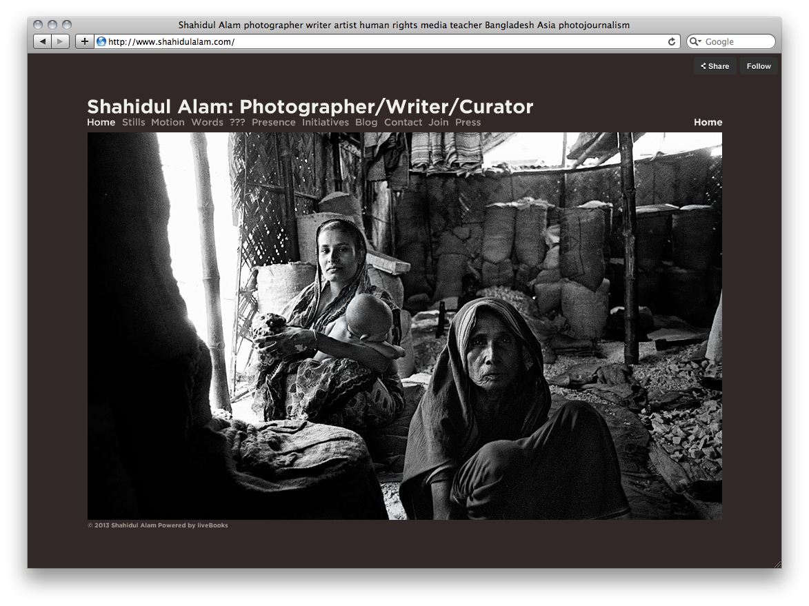 Shahidul Alam photography website