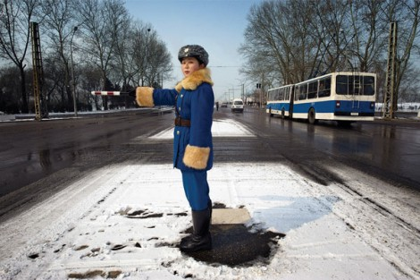 Traffic Officer Pyongyang, North Korea. Image courtesy of Mark Edward Harris.