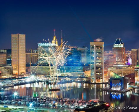 New Year's Eve Fireworks - Baltimore Inner Harbor