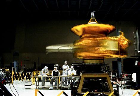 New Horizons space craft in high bay at NASA GSFC, June 2005