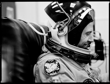 "STS125 / SM4 astronaut Andrew ""Drew"" Feustel in the suit-up faci"